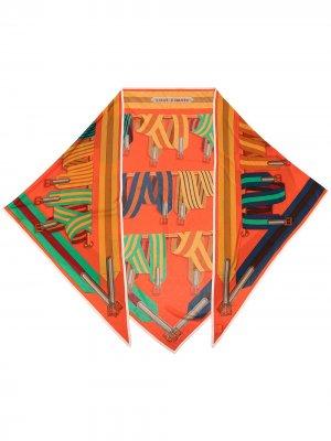 Платок pre-owned с принтом Hermès. Цвет: разноцветный