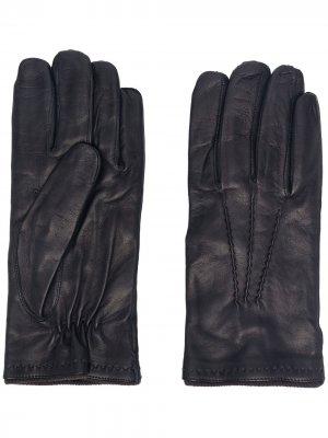Перчатки с тональной строчкой Lady Anne. Цвет: синий