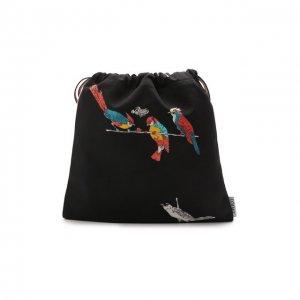 Клатч Drawstring small x Paulas Ibiza Loewe. Цвет: чёрный