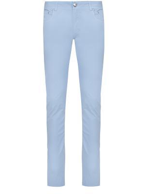 Прямые джинсы BILANCIONI. Цвет: голубой