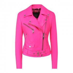 Кожаная куртка Philipp Plein. Цвет: розовый