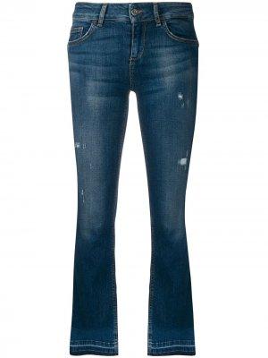 Расклешенные джинсы средней посадки LIU JO. Цвет: синий