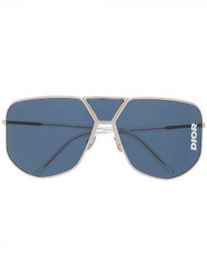 Солнцезащитные очки Dior Ultra Eyewear. Цвет: серебристый