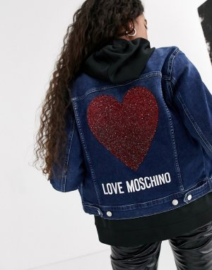 Джинсовая куртка -Темно-синий Love Moschino