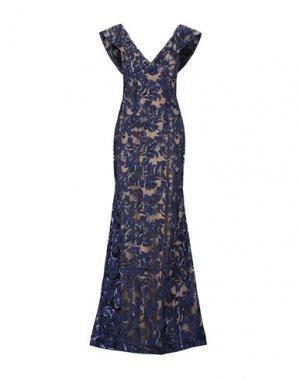 Длинное платье JOVANI. Цвет: темно-синий