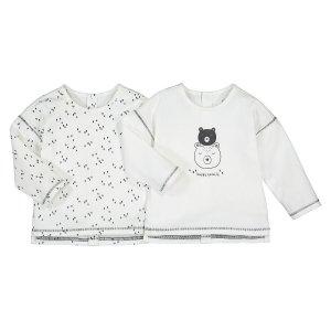Комплект из 2-х футболок с La Redoute. Цвет: бежевый