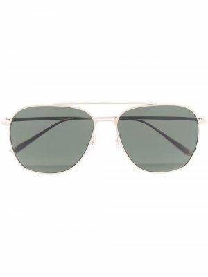 Солнцезащитные очки-авиаторы Oliver Peoples. Цвет: золотистый