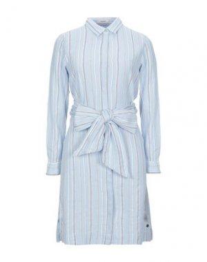Короткое платье GARCIA. Цвет: небесно-голубой