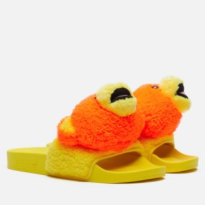 Сланцы x Jeremy Scott Adilette JS Bear adidas Originals. Цвет: жёлтый