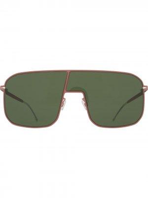 Солнцезащитные очки-авиаторы Studio Mykita. Цвет: зеленый