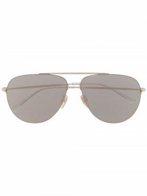 Солнцезащитные очки-авиаторы Invisible XXL Balenciaga Eyewear. Цвет: золотистый