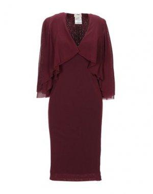 Короткое платье FUZZI. Цвет: красно-коричневый