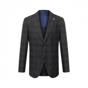 Шерстяной пиджак L.B.M. 1911. Цвет: серый