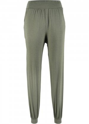 Трикотажные брюки-шаровары bonprix. Цвет: зеленый