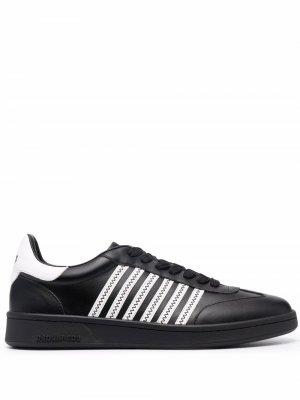 Кроссовки с полосками Dsquared2. Цвет: черный