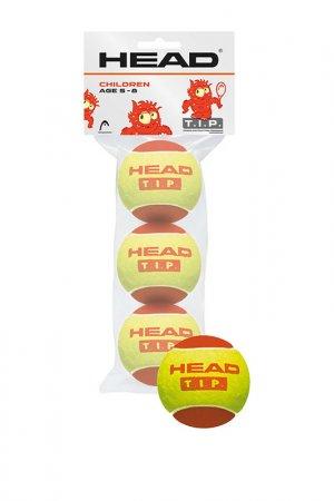 Мячи теннисные 3B Tip Red HEAD. Цвет: желтый