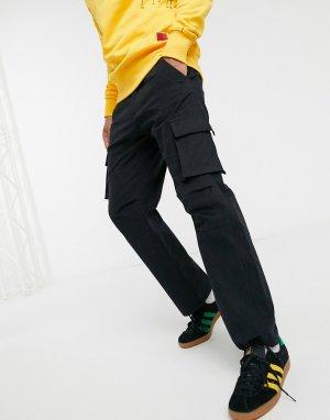 Черные базовые брюки-карго Caterpillar-Черный Cat Footwear