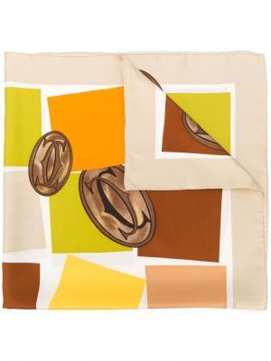 Квадратный шарф с принтом Cartier. Цвет: разноцветный
