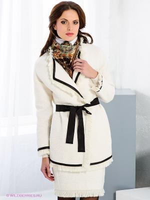 Пальто Fairly. Цвет: молочный, черный