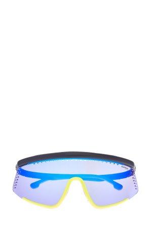 Спортивные очки-маска Hyper Fit в стиле colorblock с зеркальными линзами CARRERA (sunglasses). Цвет: мульти