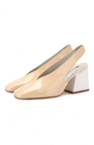 Лаковые туфли Baldan. Цвет: бежевый