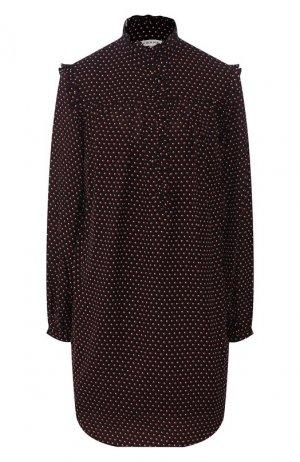 Шелковое платье Frame Denim. Цвет: чёрный