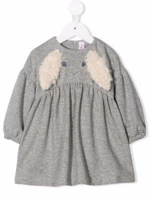 Erica rabbit-motif dress Il Gufo. Цвет: серый