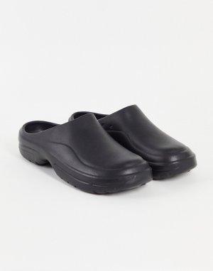 Черные формованные сабо -Черный цвет ASOS DESIGN
