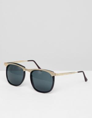 Черные круглые солнцезащитные очки Inspired эксклюзивно для ASOS Reclaimed Vintage. Цвет: черный