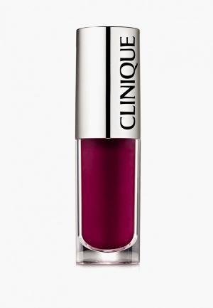 Блеск для губ Clinique Pop Splash lip gloss + hydration, 19 Vino Pop, 4.3 мл.. Цвет: бордовый