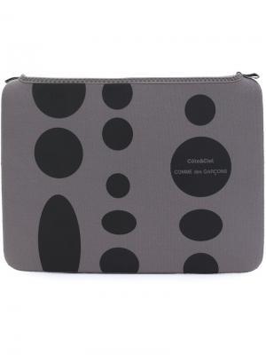 Чехол для ноутбука в горох Comme Des Garçons Wallet. Цвет: серый