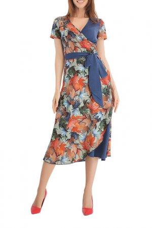 Платье Giulia Rossi. Цвет: мультиколор, синий