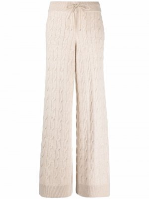 Кашемировые брюки фактурной вязки Ralph Lauren. Цвет: нейтральные цвета