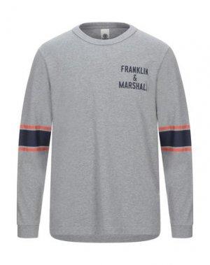 Футболка FRANKLIN & MARSHALL. Цвет: серый