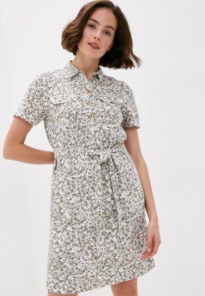 Платье Marks & Spencer. Цвет: хаки