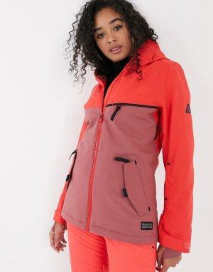 Неоново-розовая лыжная куртка Eclipse-Розовый Billabong
