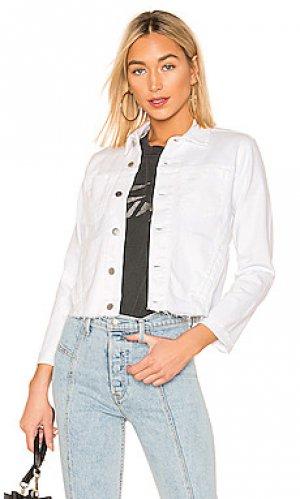 Джинсовая куртка janelle LAGENCE L'AGENCE. Цвет: белый