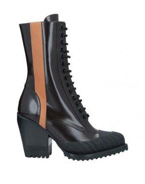 Полусапоги и высокие ботинки CHLOÉ. Цвет: темно-коричневый