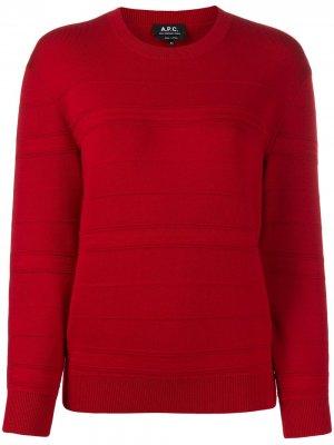 Джемпер со вставками в рубчик A.P.C.. Цвет: красный