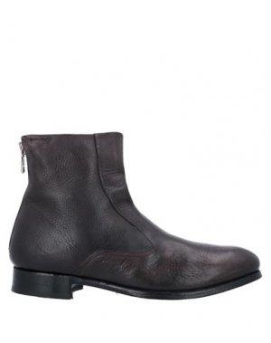 Полусапоги и высокие ботинки ALEXANDER HOTTO. Цвет: темно-коричневый