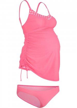 Купальник-танкини для беременных (2 изд.) bonprix. Цвет: ярко-розовый