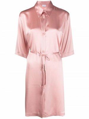 Ночная сорочка с завязками La Perla. Цвет: розовый