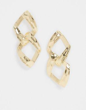 Золотистые серьги-подвески -Золотой ASOS DESIGN