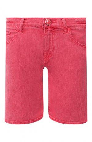 Джинсовые шорты Jacob Cohen. Цвет: красный