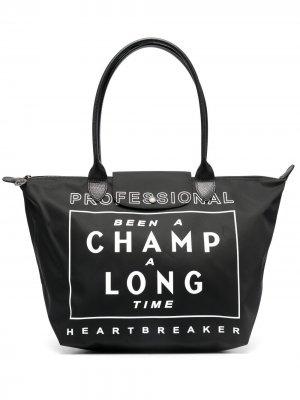 Большая сумка-тоут Le Pliage Collection Longchamp. Цвет: черный