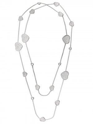 Колье Happy Hearts из белого золота с бриллиантами Chopard. Цвет: белый