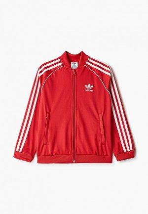 Олимпийка adidas Originals SST TRACKTOP. Цвет: красный