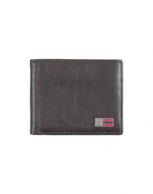 Бумажник NAPAPIJRI. Цвет: темно-коричневый