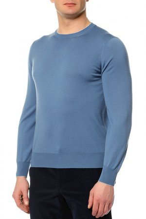 Пуловер Brunello Cucinelli. Цвет: голубой