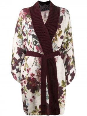 Трикотажное пальто-кардиган в стиле кимоно Antonio Marras